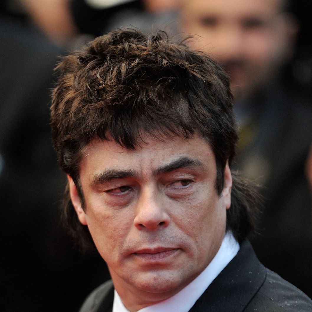 Actor Benicio Del Toro attends the 'Jimmy P. (Psychotherapy Of A Plains Indian)' Premiere during the 66th Annual Cannes Film Festival at the Palais des Festivals on May 18, 2013 in Cannes, France.