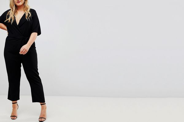 ASOS CURVE Wrap Jumpsuit with Self Belt