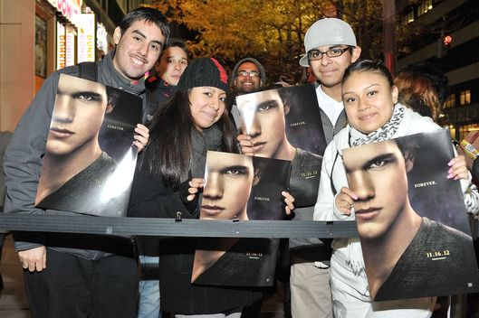 "Fans of ""Twilight"" attend a screening of  ""The Twilight Saga: Breaking Dawn Part 2"" at AMC Loews 34th street theater on November 15, 2012 in New York City."