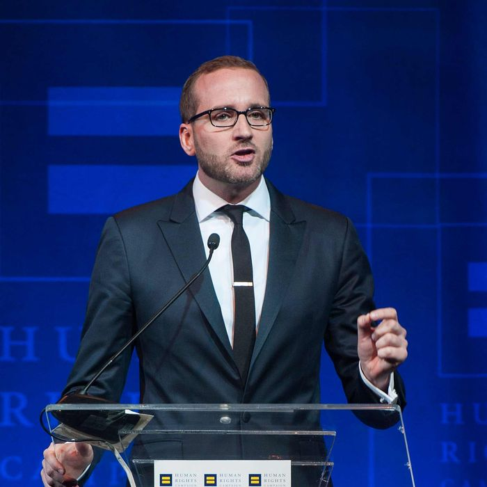 Chad Griffin speaks during the Human Rights Campaign Los Angeles Gala Dinner at JW Marriott Los Angeles at L.A. LIVE on March 22, 2014 in Los Angeles, California.