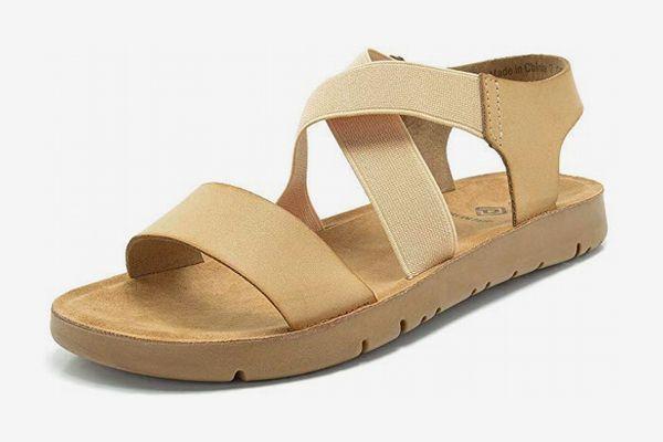 Dream Pairs Women's Greek Platform Wedge Flat Sandals
