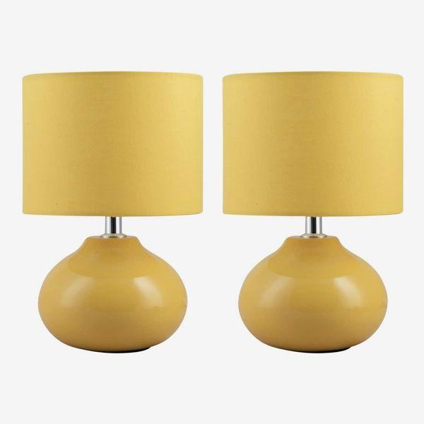 Set of 2 Owen Ochre Ceramic Table Lamps