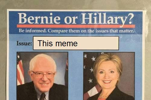 memethebern.w536.h357.2x how do hillary and bernie differ on the issues that really matter