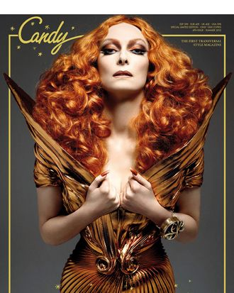 Tilda Swinton, shot by Xevi Muntane for <em>Candy</em> magazine.
