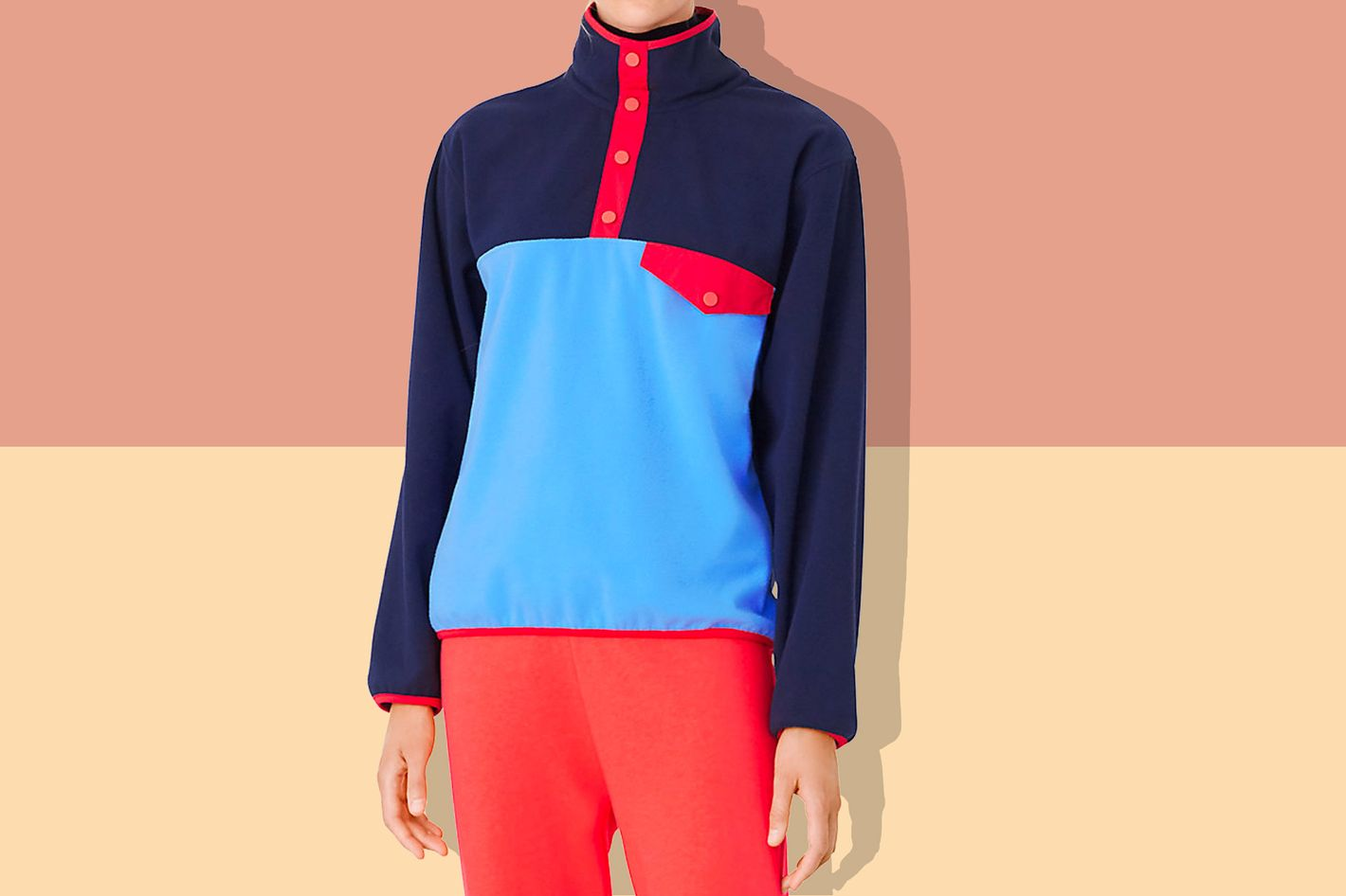 bd779176453 This (More Understated Than Patagonia) Fleece From Tory Burch Is on Sale