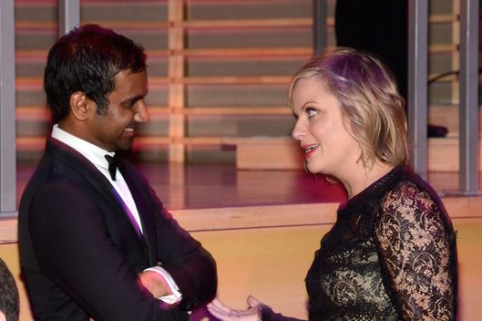 NEW YORK, NY - APRIL 23:  Amy Poehler and Aziz Ansari attend TIME 100 Gala, TIME'S 100 Most Influential People In The World at Jazz at Lincoln Center on April 23, 2013 in New York City.  (Photo by Kevin Mazur/WireImage for TIME)