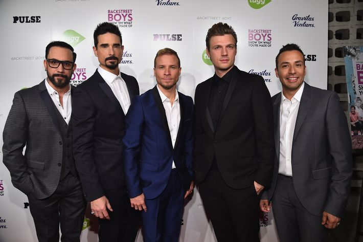 Backstreet's back, alright. (Note: Not apologizing for that caption). Photo: Alberto E. Rodriguez/Getty Images