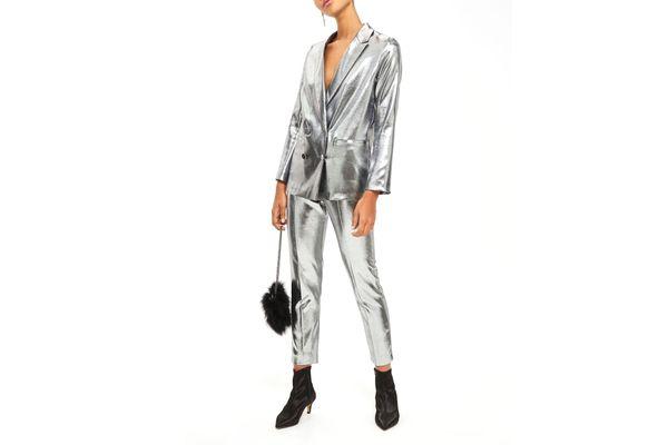 Topshop Metallic Suit