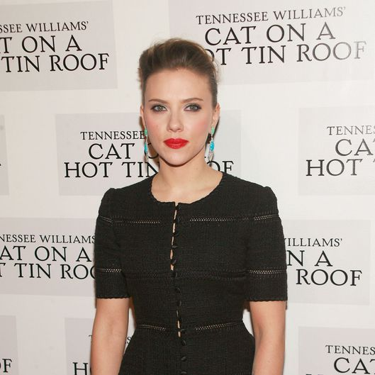 "Scarlett Johansson== Opening Night Curtain Call and After Party for ""Cat On A Hot Tin Roof""== The Lighthouse at Chelsea Piers, NYC== January 17, 2013== ?PatrickMcmullan.com== photo-Sylvain Gaboury/PatrickMcmullan.com== =="