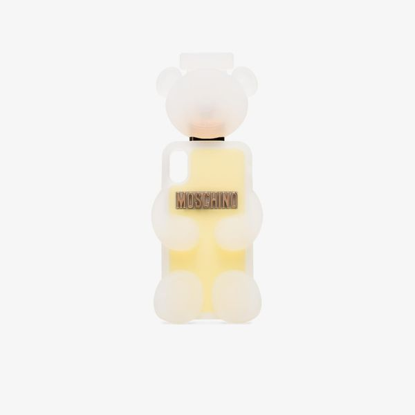 Moschino White and Yellow Teddy Bear IPhone X/XS Case