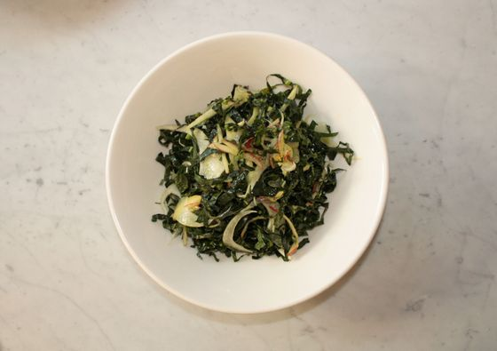 Kale, fennel, and nuts
