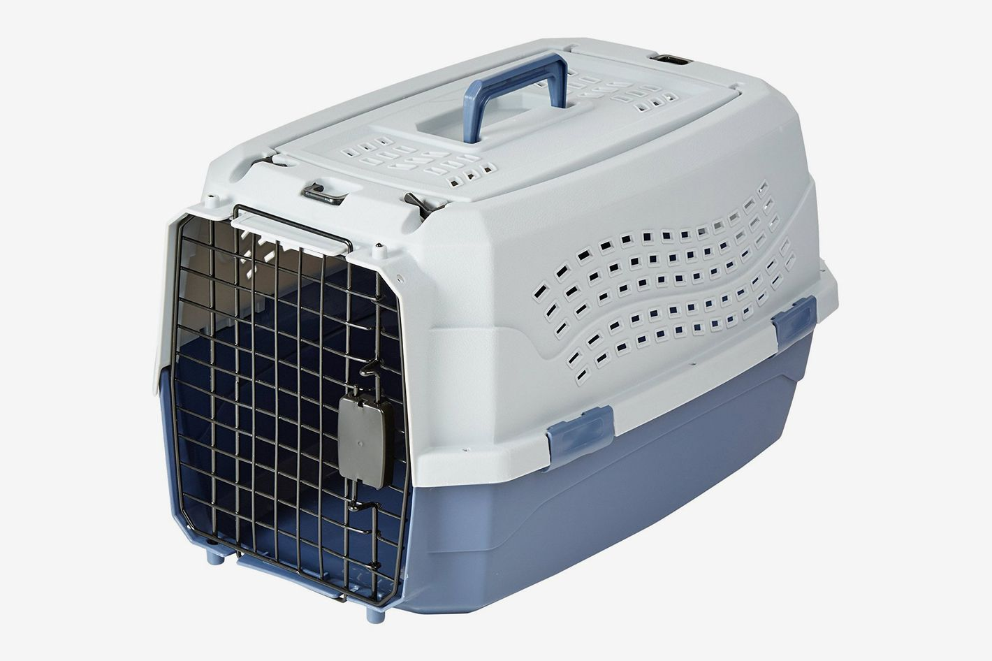 afe41c2e44 AmazonBasics Two-Door Top-Load Pet Kennel 23-Inch