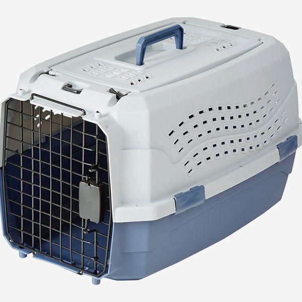AmazonBasics Two-Door Top-Load Pet Kennel 23-Inch