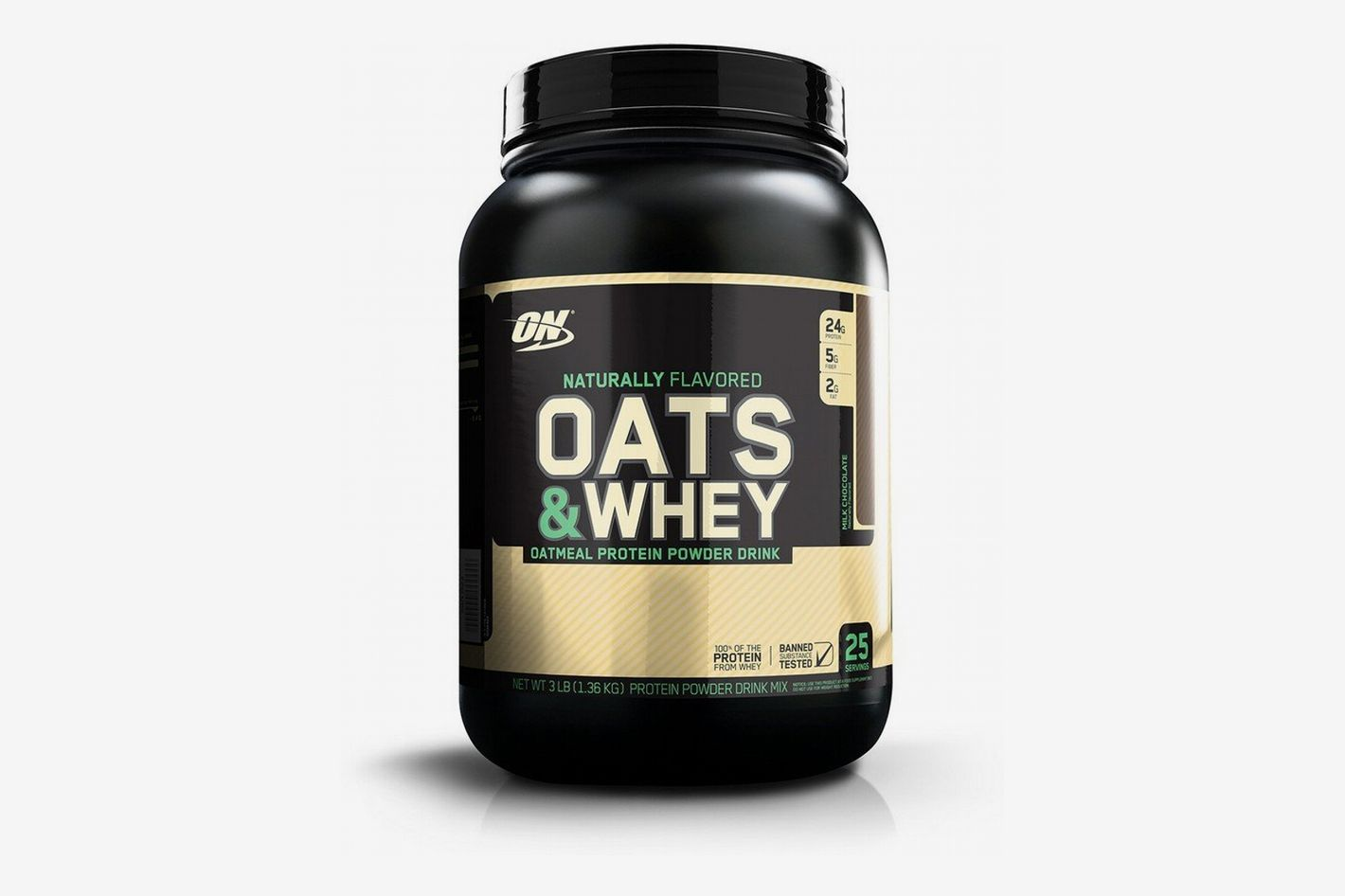OPTIMUM NUTRITION Oats and Whey Protein Powder, Naturally Flavored Milk Chocolate