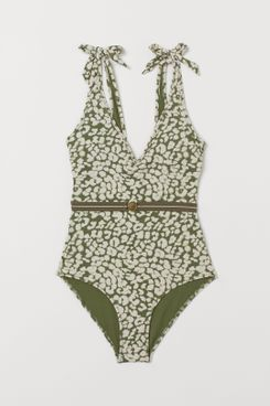 Love Stories x H&M V-neck Swimsuit with Belt