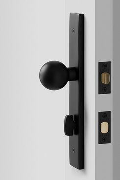 Schoolhouse Rome Tall Door Set with Globe Knob, Flat Black