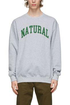 Museum of Peace and Quiet Unisex Grey Print 'Natural' Sweatshirt