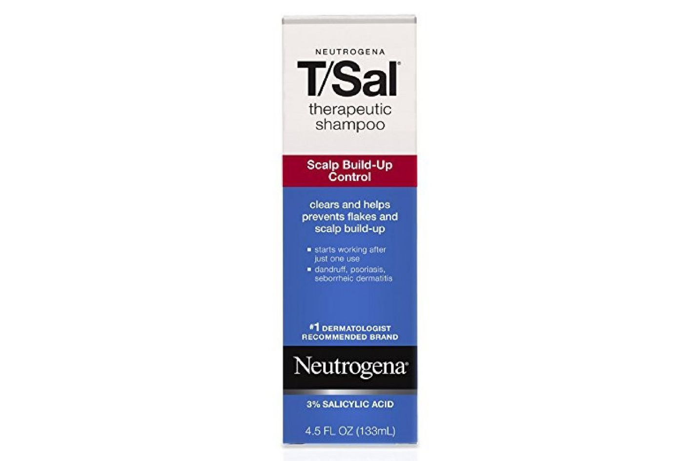 Neutrogena T/Sal Therapeutic Shampoo, Scalp Build-Up Control 4.5 oz