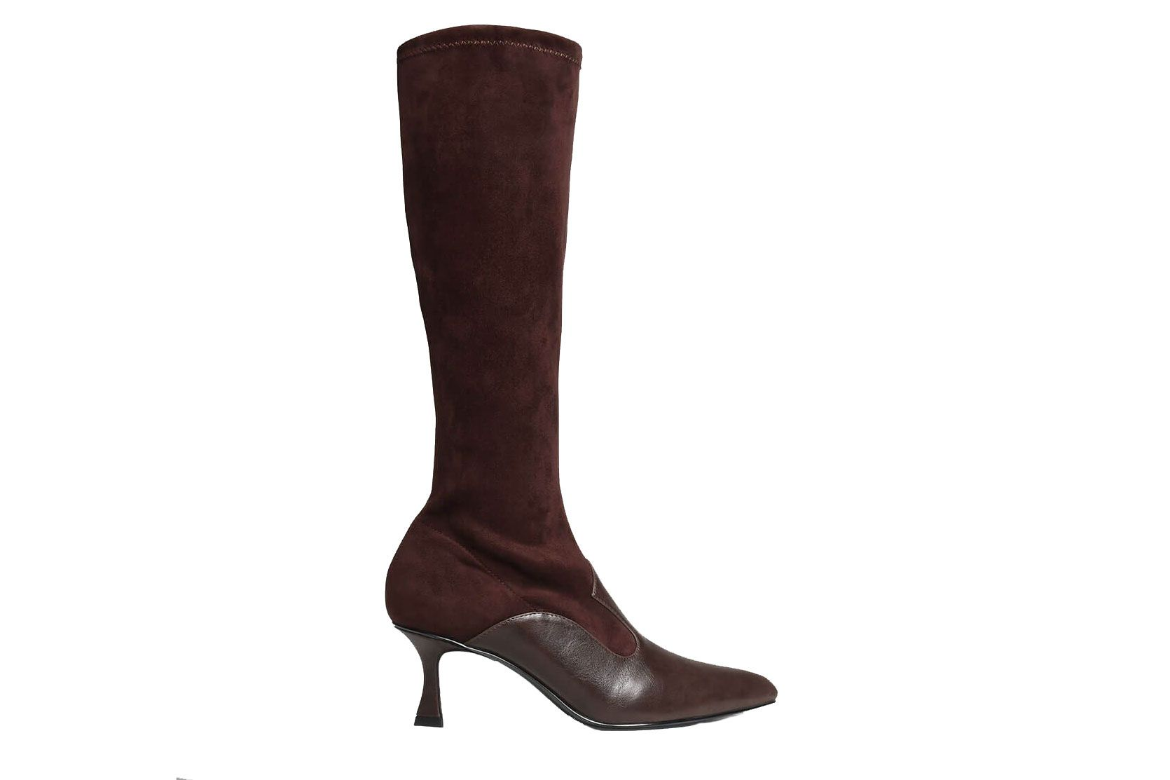 Dual Texture Knee Boots