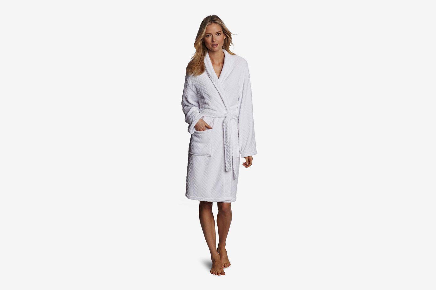 Seven Apparel Hotel Spa Collection Herringbone Textured Plush Robe