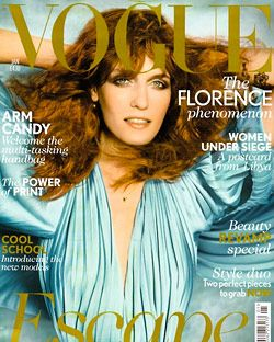 Florence Welch; courtesy of British <em>Vogue</em>.