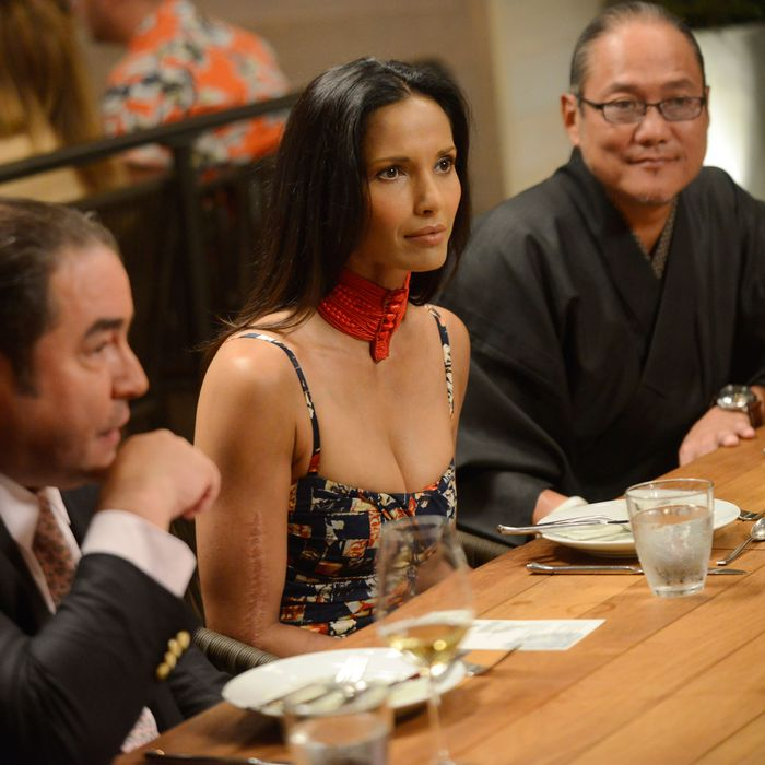 Don't mess with Padma. (Or Emeril, or Morimoto for that matter.)