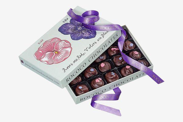 Rococo Luxury Rose & Violet Creams Chocolate Box