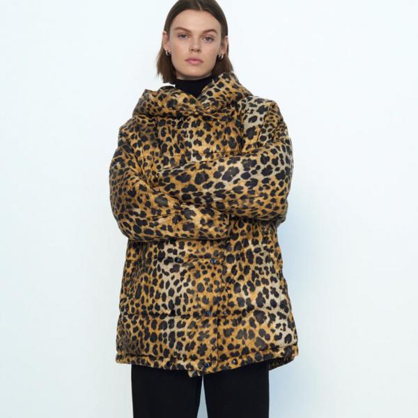 Zara Water Repellent Printed Coat