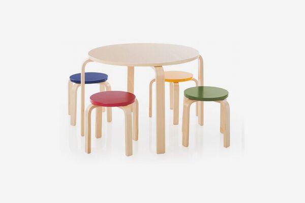 Kahn Kids Round Table and Stool Set