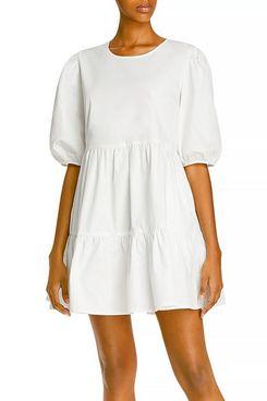 Aqua Poplin Mini Dress