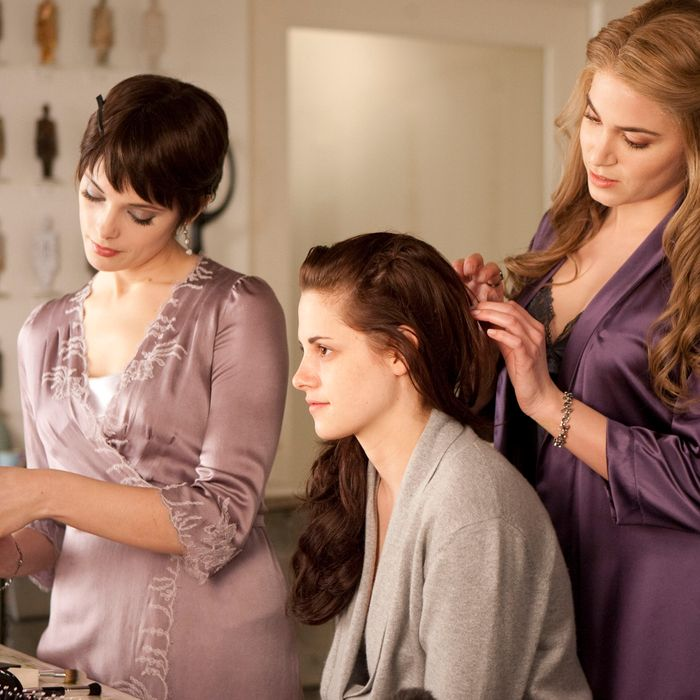 (L-R) ASHLEY GREENE, KRISTEN STEWART and NIKKI REED star in THE TWILIGHT SAGA: BREAKING DAWN-PART 1 Ph: Andrew Cooper ? 2011 Summit Entertainment, LLC. All rights reserved.