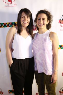 "Abbi Jacobson, Ilana Glazer==Gilda's Club of New York City's ""Gildafest'15""==Carolines on Broadway, 1626 Broadway, NYC.==April 27, 2015==?Patrick Mcmullan==photo-Sylvain Gaboury/PatrickMcmullan.com===="