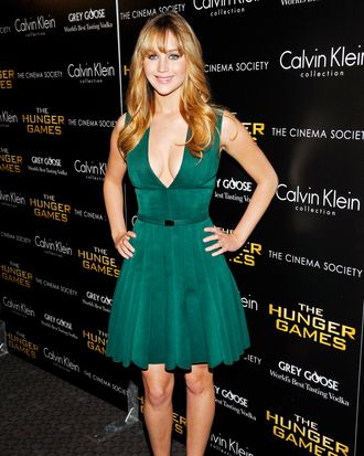 Jennifer Lawrence (Wearing Calvin Klein) The Cinema Society & Calvin Klein Collection host a screening of