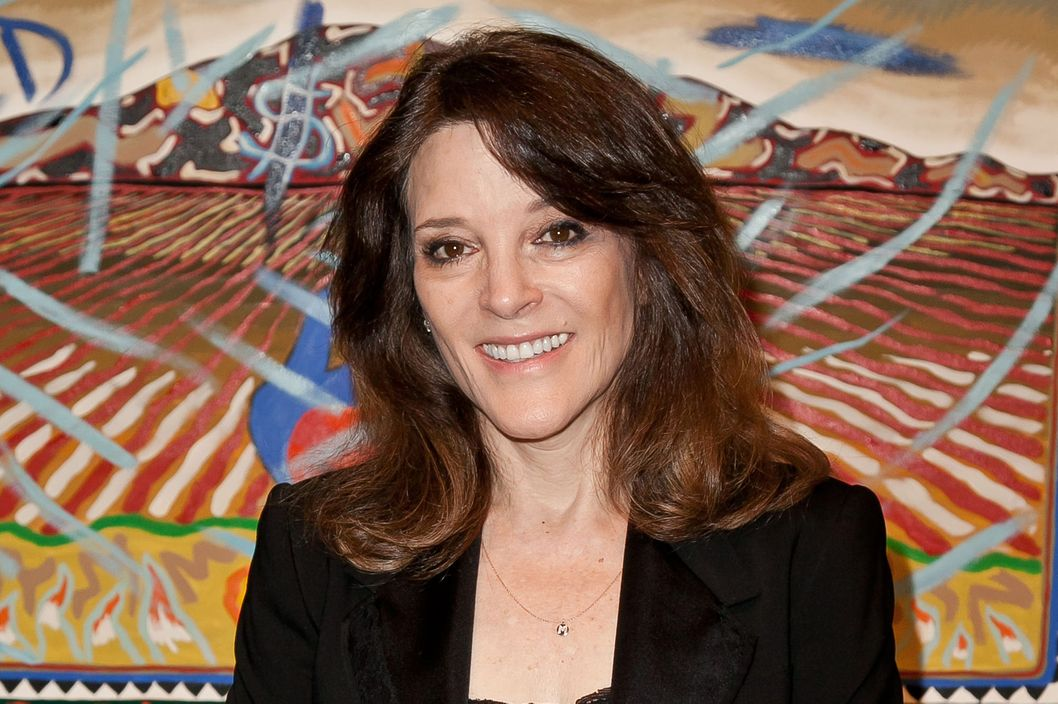 Congressional candidate Marianne Williamson attends as Nicole Richie, Rivka Sophia Rossi, Hayden Slater and friends host Marianne Williamson, Independent Candidate for Congress, CA 33 event at Kayne Griffin Corcoran Gallery on April 8, 2014 in Los Angeles, California.