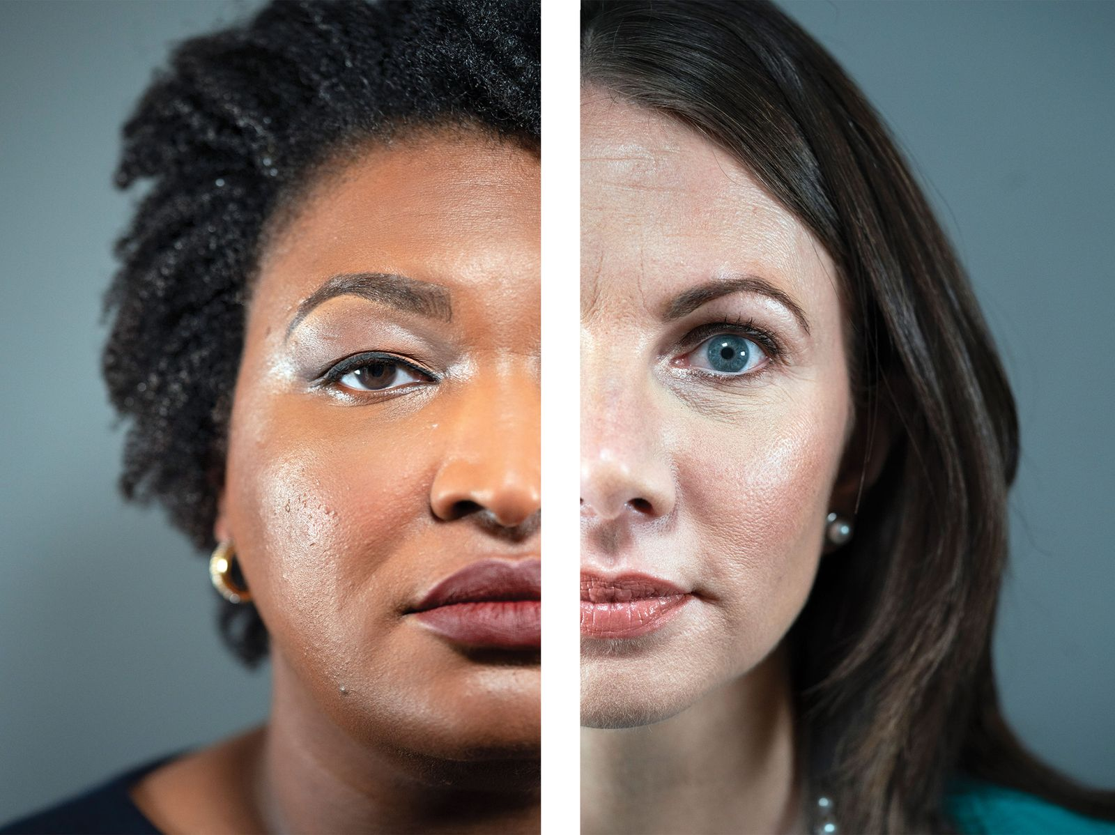 Stacey Abrams (left) and Stacey Evans.