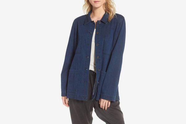 Soft Cotton Blend Denim Jacket