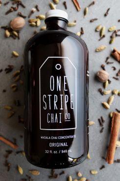 One Stripe Chai Co. Unsweetened Chai Concentrate, 32 oz.