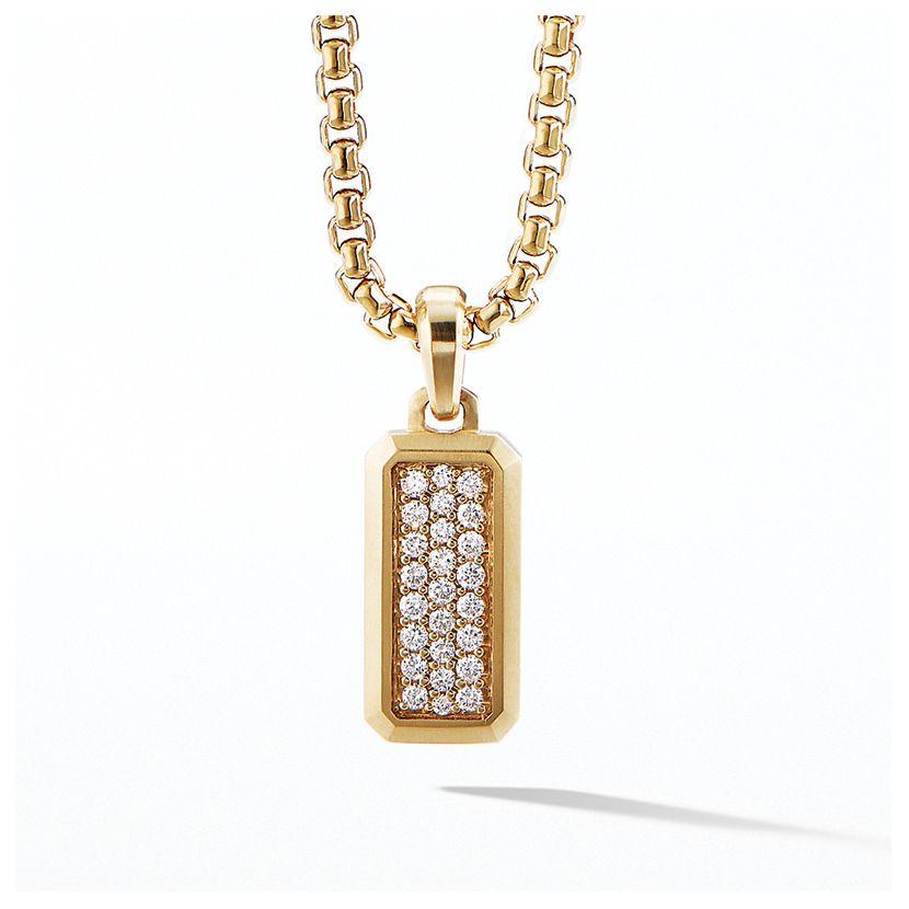 Streamline Amulet in 18K Gold