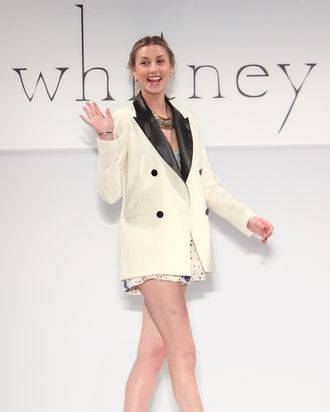 Whitney Port at her fall 2010 show.
