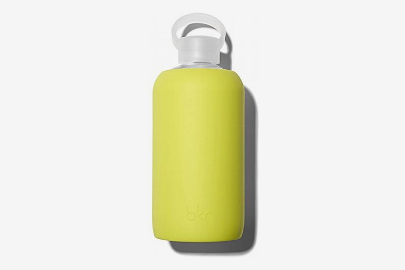 Bkr Glass Water Bottle with Smooth Silicone Sleeve