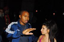 LONDON, UNITED KINGDOM - JULY 21: Amy Winehouse and american rapper Nas are seen at kyashii Club on July 21, 2010 in London, England. (Photo by Sylvia Linares/FilmMagic)