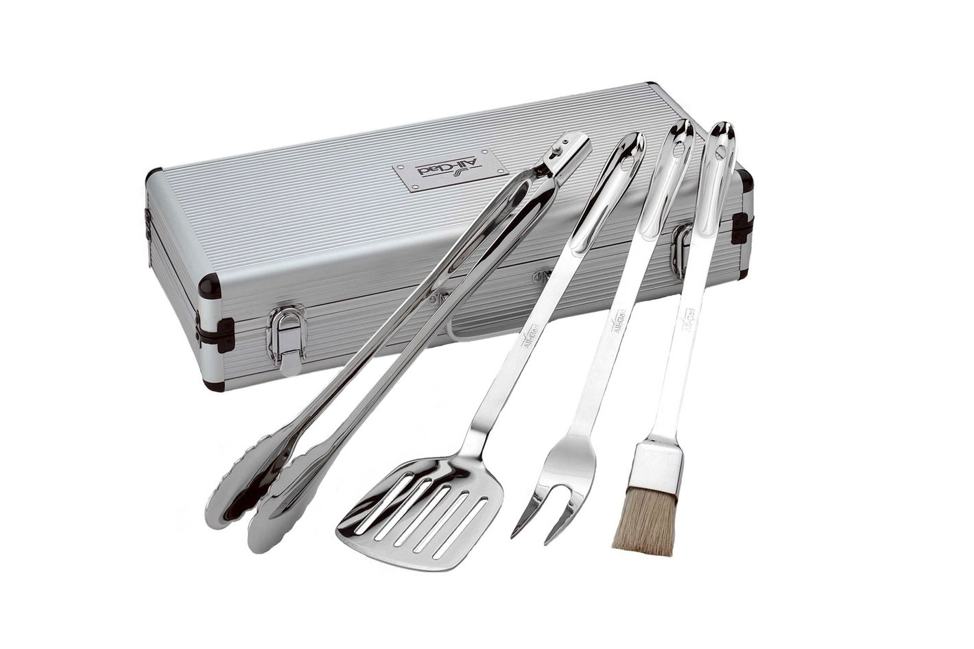 All-Clad 4-Piece Stainless Steel Barbecue Tool Set with Storage Case