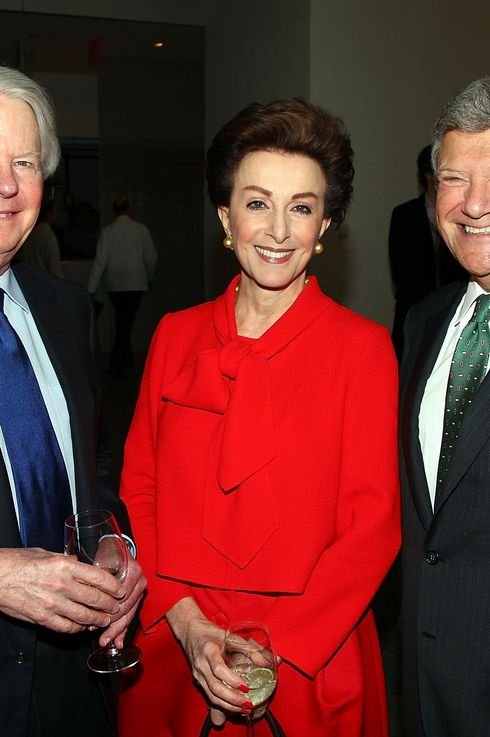 NEW YORK - MARCH 10: (L-R) Sid Bass, Mercedes Bass and Jerry Speyer attend the David Rockefeller award luncheon honoring Eli Broad at the Museum of Modern Art on March 10, 2009 in New York City.  (Photo by Andrew H. Walker/Getty Images) *** Local Caption *** Sid Bass;Mercedes Bass;Jerry Speyer