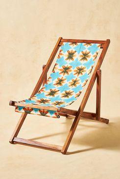 Anthropologie Tie-Dye Beach Sling Chair