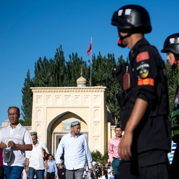 Image result for Chinese Muslims ,re-education, pictures