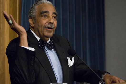 "WASHINGTON, DC - Sept. 10: House Ways and Means Chairman Charles B. Rangel, D-N.Y., during a news conference during which he resisted calls to relinquish his chairmanship, insisting that he will fight off three separate ethics inquiries. ""I'm a lucky old son of a gun that ain't nothing going to stop me from getting back here next year"" said Rangel, D-N.Y., during an hour-long news conference Wednesday morning. The latest controversy involves Rangel's admission that he failed to report rental income he received from a home he owns in the Dominican Republic. Not including penalties and interest, Rangel owes nearly $11,000 in back taxes to the federal, state and city governments, according to information provided by his lawyer, Lanny Davis. That total covers 2004, 2005 and 2006. (Photo by Scott J. Ferrell/Congressional Quarterly/Getty Images)"