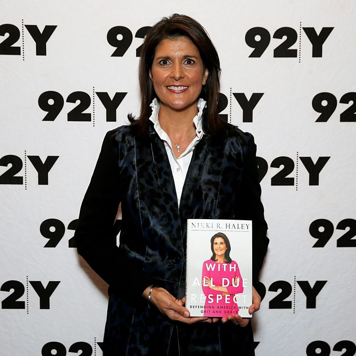 Nikki Haley and her book.