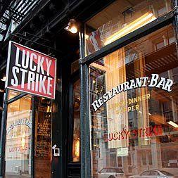 Lucky Strike in Soho.