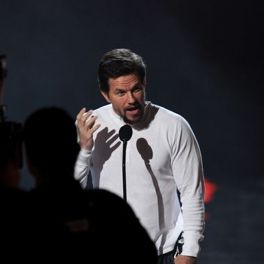 "Actor Mark Wahlberg speaks onstage during Spike TV's ""SCREAM 2011"" awards held at Universal Studios on October 15, 2011 in Universal City, California."
