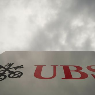 Picture taken on October 25, 2011 of the logo of the UBS bank in Basel. Swiss banking giant UBS said on October 25 that its third-quarter net profit reached 1.018 billion francs (831 million euros, $1.16 billion) even though it had to take a massive charge due to a rogue trading scandal. AFP PHOTO / SEBASTIEN BOZON (Photo credit should read SEBASTIEN BOZON/AFP/Getty Images)